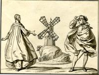 Windmill with man and woman