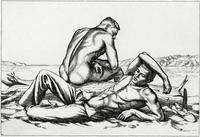 Two Boys on a Beach #2 (The Albany Print Club Annual Print for 1938-39