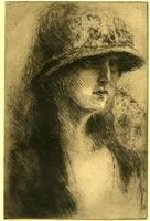 Hat and Veil (Self-Portrait)