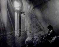 Image No. 83 (photograph of window with flying curtains, the boy, the morning)