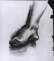 "Study for ""The Incident"", Foot, top view"