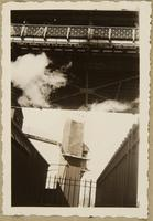 New York, 1930's (view of elevator from under bridge)