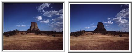Diptych - Cloud Shadows, Devil's Tower, Wyoming