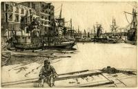 Eagle Wharf (Tyzac, Whitely & Co.), from a  series of sixteen etchings of scenes on the Thames and other subjects