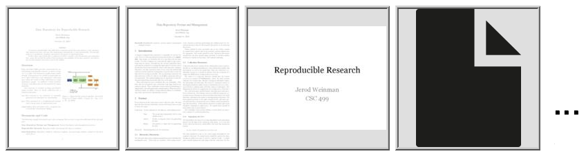 Data Repository for Reproducible Research