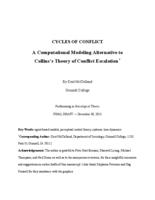Cycles of Conflict: A Computational Modeling Alternative to Collins's Theory of Conflict Escalation