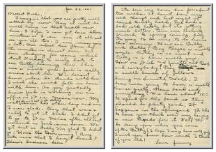 Jimmy Ley to Mr. and Mrs. W. E. Ley - January 22, 1941