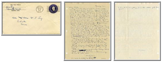 Jimmy Ley to Mr. and Mrs. W. E. Ley - October 27, 1941
