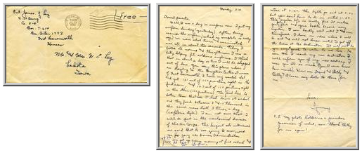 Jimmy Ley to Mr. and Mrs. W. E. Ley - July 21, 1942