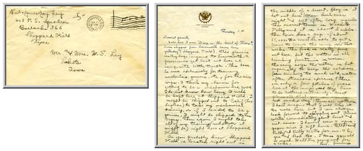 Jimmy Ley to Mr. and Mrs. W. E. Ley - July 24, 1942