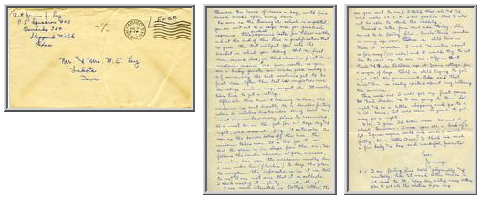 Jimmy Ley to Mr. and Mrs. W. E. Ley - August 5, 1942