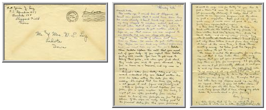 Jimmy Ley to Mr. and Mrs. W. E. Ley - August 7, 1942