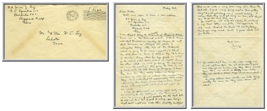 Jimmy Ley to Mr. and Mrs. W. E. Ley - August 8, 1942