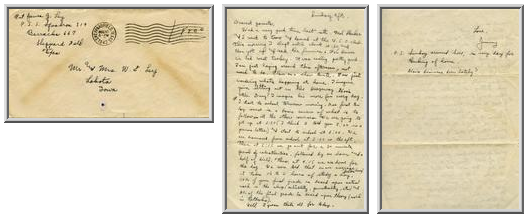 Jimmy Ley to Mr. and Mrs. W. E. Ley - August 10, 1942