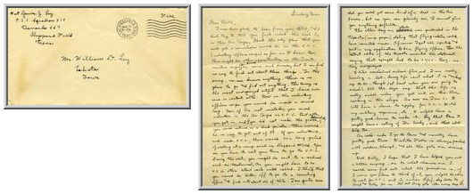 Jimmy Ley to Mr. William D. Ley - August 31, 1942