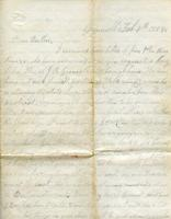 Cook, George W. to Collins Cook, February 8, 1858