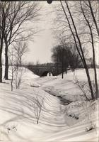 Hazelwood Cemetery Bridge in Winter