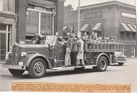 Local Businessmen on Fire Engine