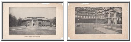 Exterior and Interior Views of Men's Gymnasium