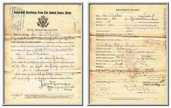 United States Army Discharge Papers for Ben P. Tarleton