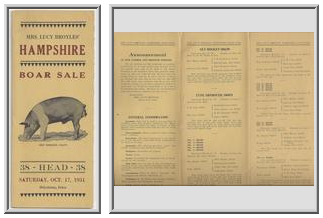 Mrs. Lucy Broyles' Hampshire Boar Sale