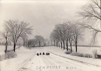Sledding on Cemetery Hill