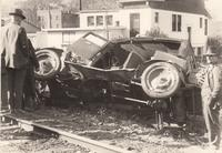 Automobile Accident at 5th Avenue and the Railroad Tracks