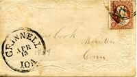 Cook, George W. to Collins Cook, April 13, 1858