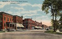 Broad Street North From Third Avenue, Grinnell, Iowa