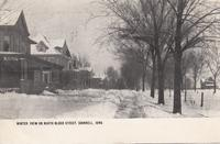 Winter View on North Blood [i.e. Broad] Street, Grinnell, Iowa
