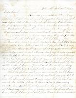 Cook George W. to Sarah E. Cook, February 28, 1860