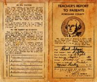 Teacher's Report to Parents, Poweshiek County, 1941/42