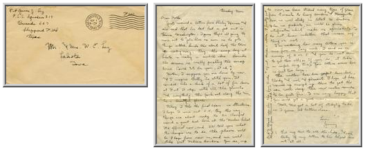 Jimmy Ley to Mr. and Mrs. W. E. Ley - September 1, 1942