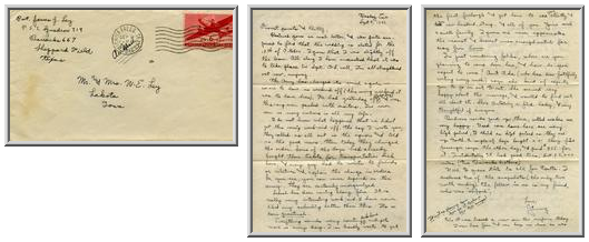 Jimmy Ley to Mr. and Mrs. W. E. Ley - September 9, 1942