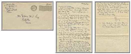 Jimmy Ley to Mr. and Mrs. W. E. Ley - September 16, 1942