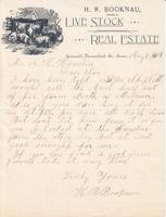 Letter from H.R. Booknau to G.H. Hamlin