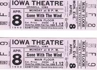 Tickets for Gone With the Wind