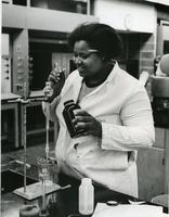 Angela Anderson in Science Classroom, May 5, 1978