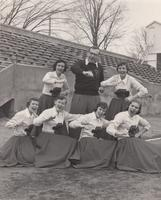 Grinnell College Cheerleaders 1953