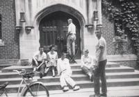 Students on the Steps of Herrick Chapel