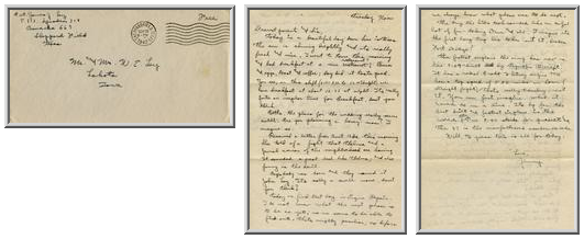 Jimmy Ley to Mr. and Mrs. W. E. Ley - September 22, 1942