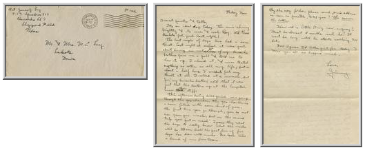 Jimmy Ley to Mr. and Mrs. W. E. Ley - September 26, 1942