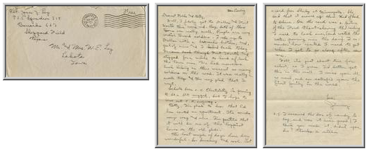 Jimmy Ley to Mr. and Mrs. W. E. Ley - September 29, 1942
