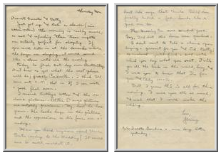 Jimmy Ley to Mr. and Mrs. W. E. Ley - October 1, 1942