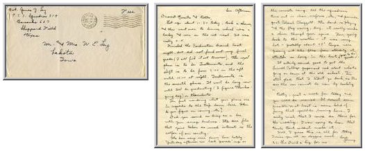 Jimmy Ley to Mr. and Mrs. W. E. Ley - October 12, 1942