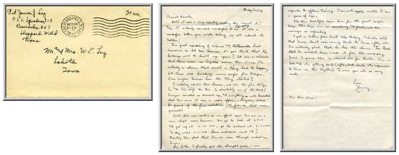 Jimmy Ley to Mr. and Mrs. W. E. Ley - October 24, 1942