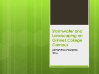 Stormwater and Landscaping on Grinnell College's Campus