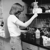 Student in Chemistry Laboratory, 1981