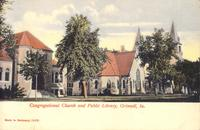 Congregational Church and public library, Grinnell, Iowa