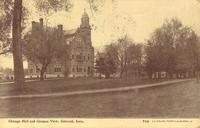Chicago Hall and campus view, [Iowa College], Grinnell, Iowa